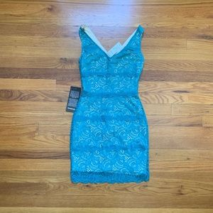 Bebe Teal Lace Mini Dress NWT Size: XS